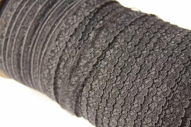 画像4: 5m幅1.7cm小花柄フランス製リバーレース 黒