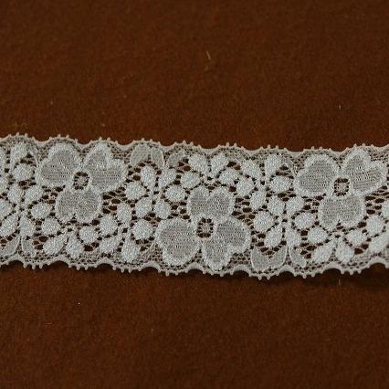 画像2: 1m20円!167.5m!幅4cm両山美しい花柄ラッセルストレッチレース オフホワイト