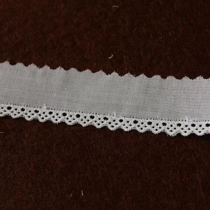 画像2: 13m!幅2.2cm綺麗な刺繍の綿レース ホワイト