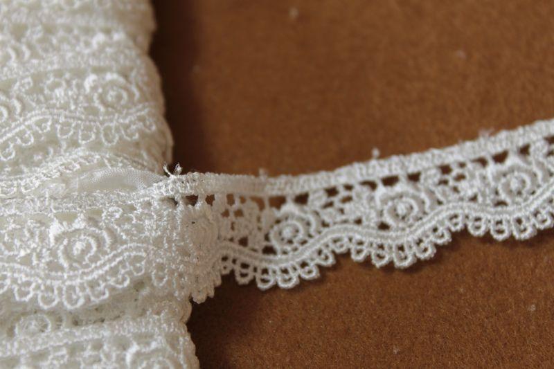 画像5: 3m!幅1.9cmスカラの綺麗な薔薇柄ケミカルレース オフホワイト