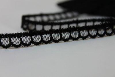 画像2: チュールレース ブラック 3m巻!幅1cm 可愛い