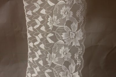 画像3: ラッセルレース ホワイト 1m!幅19cm花柄