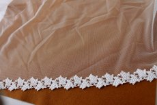 画像4: 7m!幅2.3cm薔薇のつぼみ綿ケミカルレース オフホワイト (4)
