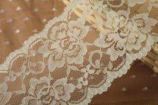画像2: 150円!1m!幅8.6cm両山の薔薇柄ラッセルレース オフホワイト (2)