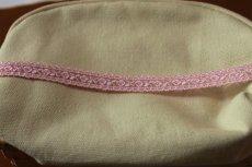 画像3: 激安5.5m!幅1.4cm両山可愛い薔薇柄チュールレース ピンク (3)