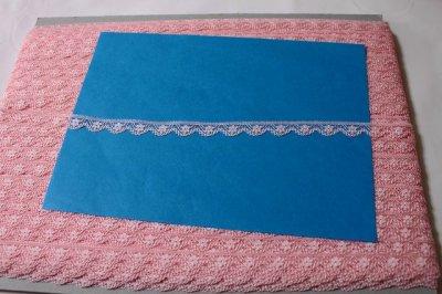 画像3: ラッセルレース ピンク 5m巻!幅1.1cm小花柄