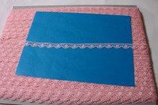 画像4: ラッセルレース ピンク 5m巻!幅1.1cm小花柄 (4)