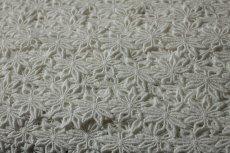 画像4: 6.5m!幅3.1cmお花の綿ケミカルレース オフホワイト (4)