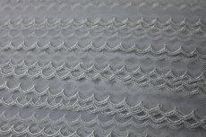 画像4: お買い得6.5m!幅2.5cm可愛いスカラ柄チュールレース ホワイト (4)