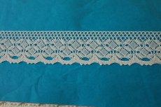 画像2: トーションレース オフホワイト 幅4cm 綺麗な綿製 10m! (2)