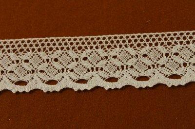 画像1: トーションレース オフホワイト 幅4cm 綺麗な綿製 10m!