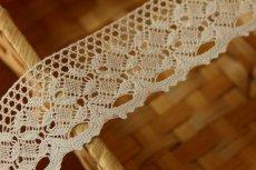 画像4: トーションレース オフホワイト 幅4cm 綺麗な綿製 10m! (4)