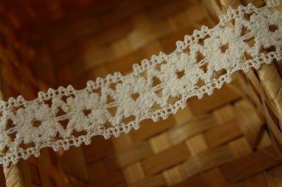画像3: 10m!3cm モコモコのお花柄トーションレース オフホワイト