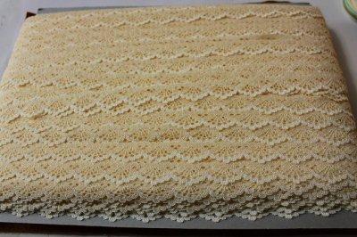 画像3: ストレッチレース 上品なイエロー 幅1.8cmスカラが綺麗 19m巻