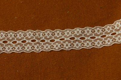 画像3: 10m!幅2.8cmリボン通し小花柄ラッセルレース オフホワイト