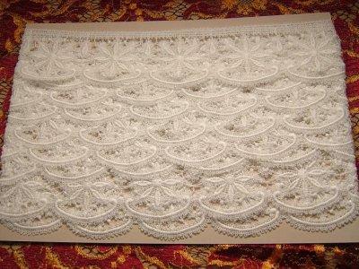 画像2: 3m!幅5.5cm花柄綿ケミカルレース オフホワイト