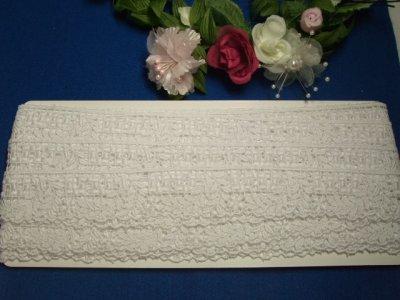 画像3: 3m!幅3cm綺麗な小花と葉柄綿ケミカルレース 白