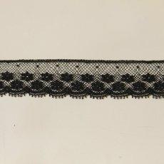 画像3: 5m!幅2cm美しいフランス製リバーレース 黒 (3)