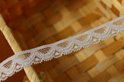 画像2: ラッセルストレッチレース グレー 幅1.4cmスカラの綺麗 3m巻