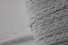 画像4: ラッセルストレッチレース グレー 幅1.4cmスカラの綺麗 3m巻 (4)