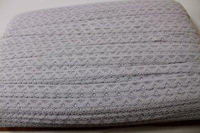 画像3: ラッセルストレッチレース グレー 幅1.4cmスカラの綺麗 3m巻