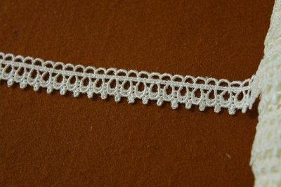 画像1: 13m!幅1.5cm綺麗なケミカルレース オフホワイト アクセサリーレース