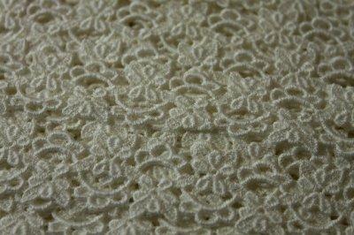 画像3: 6.5m!幅2.4cm綺麗な小花柄綿ケミカルレース オフホワイト アクセサリーレース