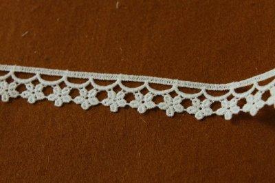 画像2: 6m!幅1.9cm小花柄綿ケミカルレース オフホワイト アクセサリーレース