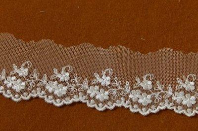 画像2: 6.5m!幅4cm可愛い小花柄チュールレース オフホワイト