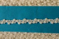 画像5: 6.5m!幅1.4cm可愛いハートと小花柄綿ケミカルレース オフホワイト  (5)