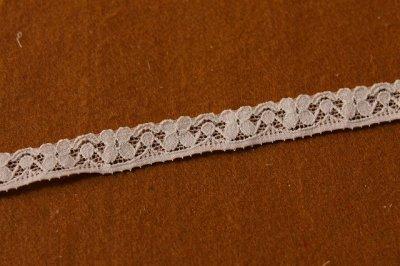 画像1: 15m!幅1.4cmコード使い小花柄ラッセルストレッチレース ブラウン