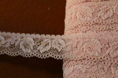 画像2: 42m!幅2.5cm薔薇の上品なラッセルストレッチレース ピンク (2)