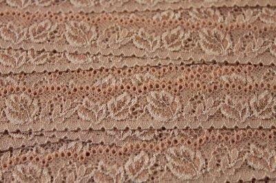 画像3: 40m!幅2.5cm薔薇の上品なラッセルストレッチレース ピーチベージュ