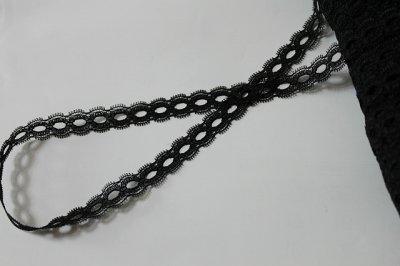 画像2: 10m!幅1.5cmリボン通しラッセルレース 黒