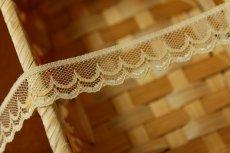 画像3: 5m!幅1.8cm可愛いダブルスカラのラッセルレース 生成り色 (3)