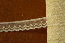 画像2: 5m!幅1.8cm可愛いダブルスカラのラッセルレース 生成り色 (2)