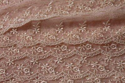 画像3: 6m巻!幅4.5cm可愛い小花柄チュールレース ピンク
