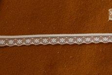 画像2: 5m!幅1.2cm小花柄ラッセルレース ホワイト (2)