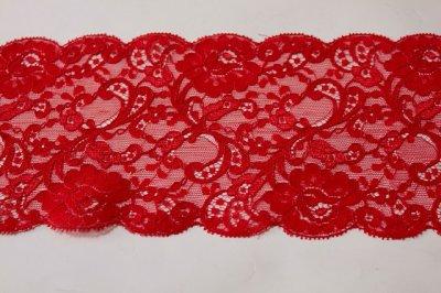 画像2: 3m!幅11.2cm上品な薔薇柄リバーレース 赤