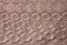 画像4: 6.3m!幅5.cm可愛い花柄綿レース ピンク (4)