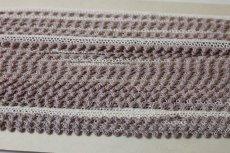 画像5: 5m!幅1.2cmツートンカラーの綿トーションレース オフホワイト/ブラウン (5)