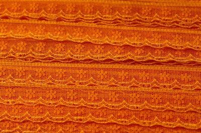 画像3: 5m!幅1.4cm小花柄ラッセルレース オレンジ