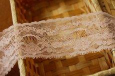 画像3: ラッセルレース ピーチピンク 5m!幅5.7cm綺麗な花柄 (3)
