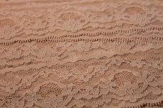 画像4: ラッセルレース ピーチピンク 5m!幅5.7cm綺麗な花柄 (4)