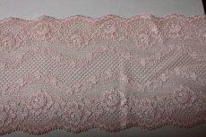 画像3: 7m!幅13cm美しい薔薇柄ラッセルストレッチレース ピーチ色 (3)