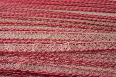 画像3: 5m!幅1.3cm可愛いピンク刺繍のラッセルレース 濃いピンク