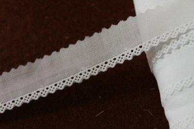 画像3: 13m!幅2.2cm綺麗な刺繍の綿レース ホワイト