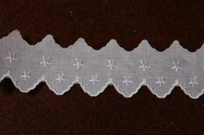 画像3: 6m!幅4cm綺麗な星柄綿レース ホワイト
