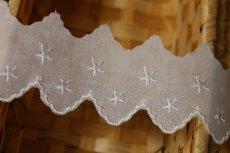 画像4: 6m!幅4cm綺麗な星柄綿レース ホワイト (4)