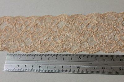 画像2: 150円!3m!幅5.7cm綺麗な薔薇柄ラッセルストレッチレース オレンジ色